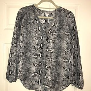 J Crew Snake-print blouse. Like New